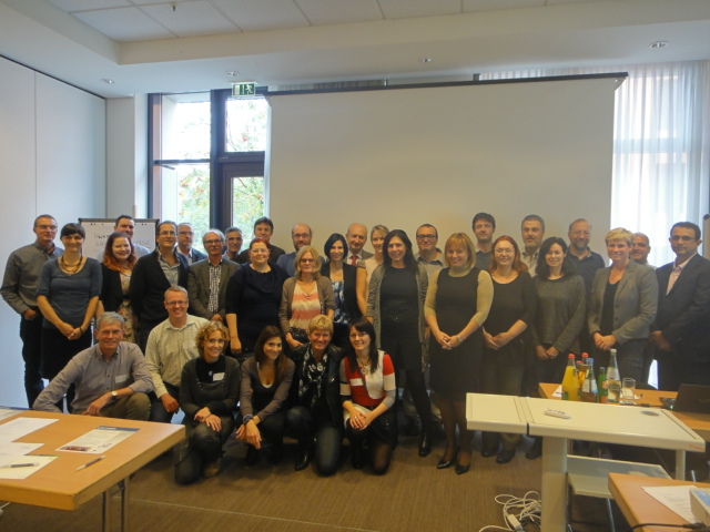 Photograph of the participants of the GENIEUR meeting in Berlin, Germany, 2013. (Please click to view full size image. To close the full size image, click on it again.)