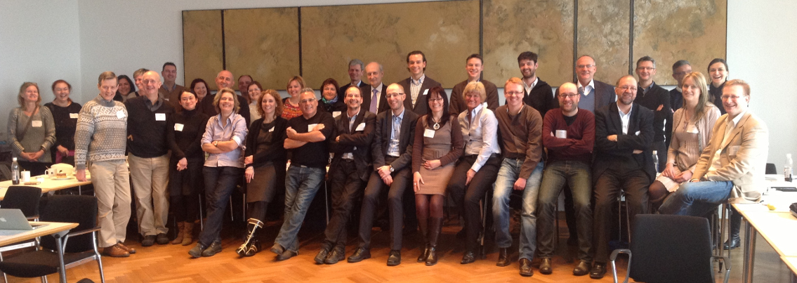 Photograph of the participants of the GENIEUR meeting in Freising, Germany, 2013. (Please click to view full size image. To close the full size image, click on it again.)