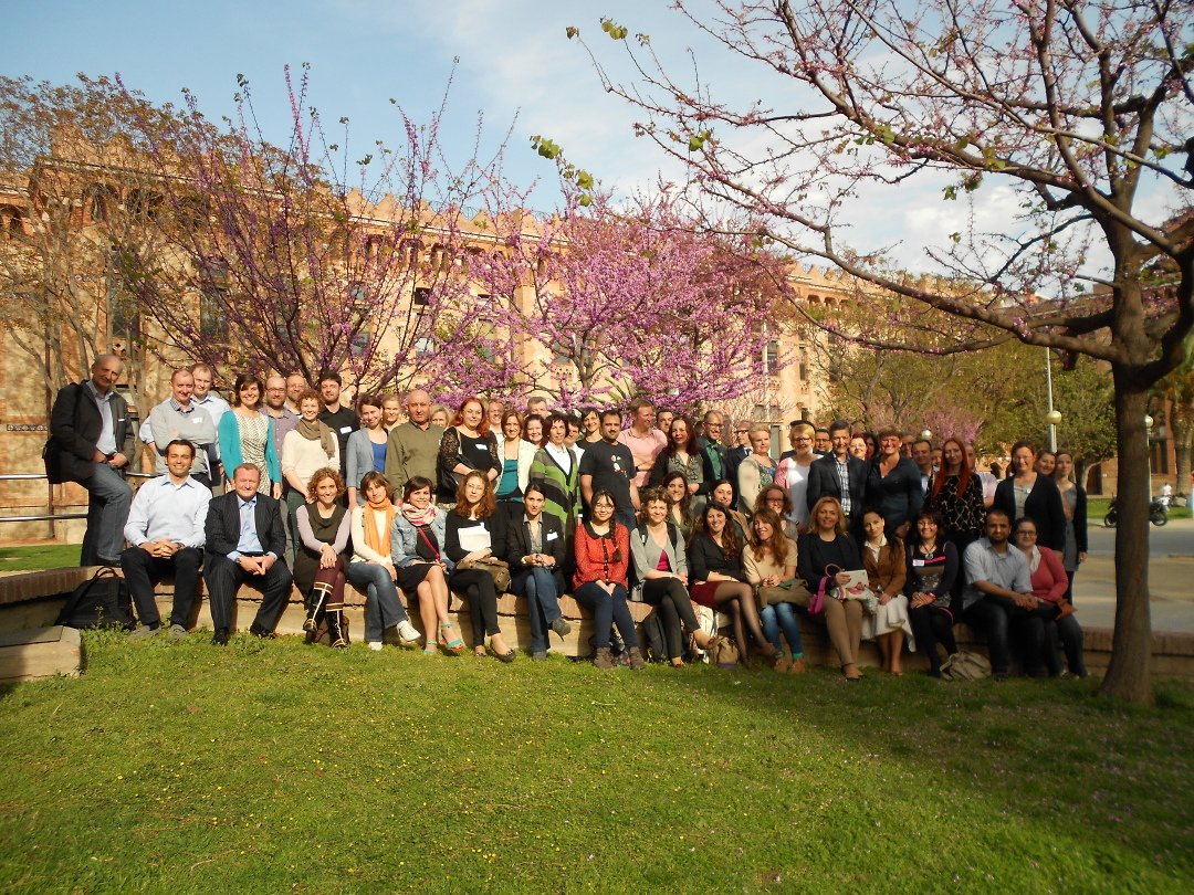 Photograph of the participants of the GENIEUR Training School and Spring Meeting, Barcelona, Spain, 2014. (Please click to view full size image. To close the full size image, click on it again.)