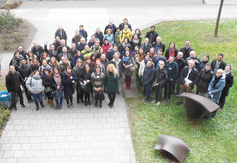 Photograph of the participants of the GENIEUR Training School, Heidelberg, Germany, 2016. (Please click to view full size image. To close the full size image, click on it again.)